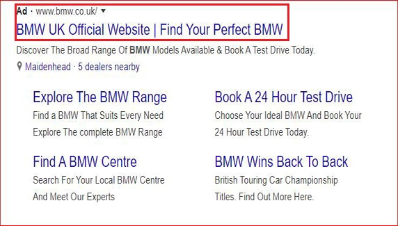 Site-links in Google Ads