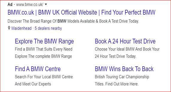 PPC Ad Results in Google