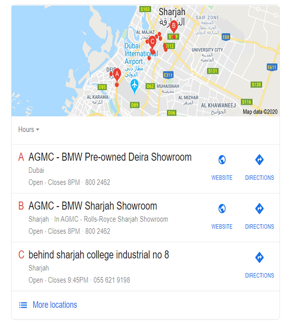Google My Business Results in SERPs